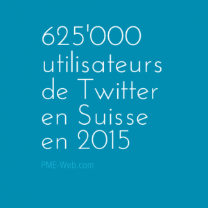Nombre d'utilisateurs de Twitter en Suisse en 2015
