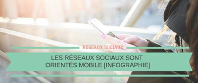 Les réseaux sociaux sont orientés Mobile [Infographie]