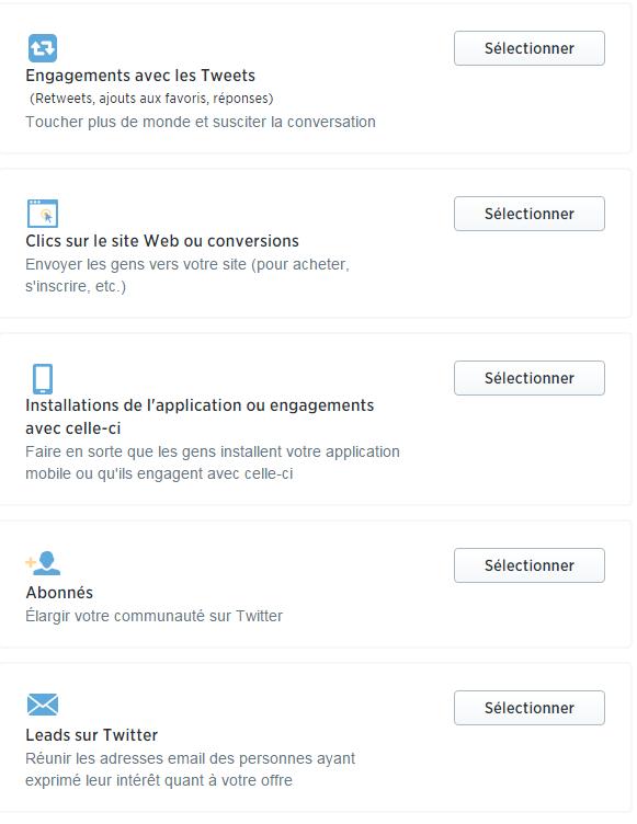 Possibilités de Publicités Twitter en Suisse
