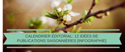 Calendrier éditorial: 12 idées de publications saisonnières sur les réseaux sociaux [Infographie]