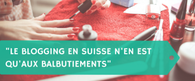 """Le blogging en Suisse n'en est qu'aux balbutiements"" Macha du blog Feathers and Brushes"
