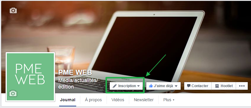 Call to Action Facebook Exemple