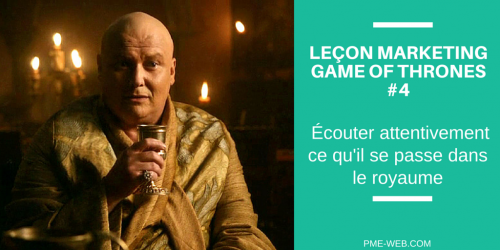 LEÇON MARKETING GAME OF THRONES #4