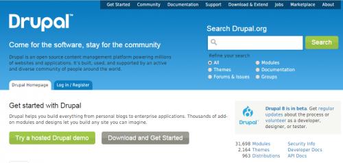 drupal_homepage