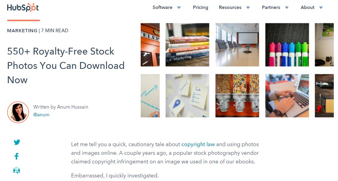 Hubspot free images
