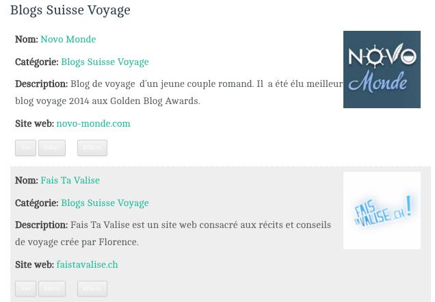 blogs suisse voyage liste