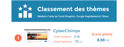 Analyse des performances de 20 thèmes WordPress [Infographie]
