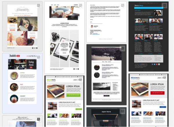 250 templates emailing gratuits