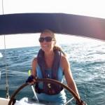 Girl Under Sail