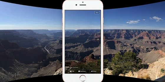 Image Facebook 360 exemple