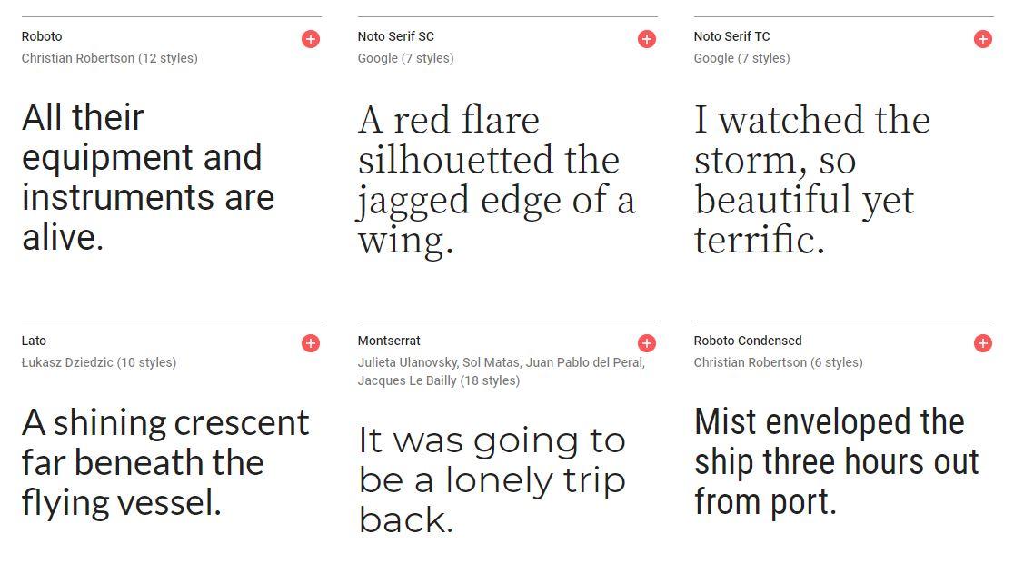 Typographie Google Fonts
