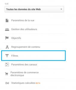 Créer un Filtre Google Analytics pour bloquer son Adresse IP