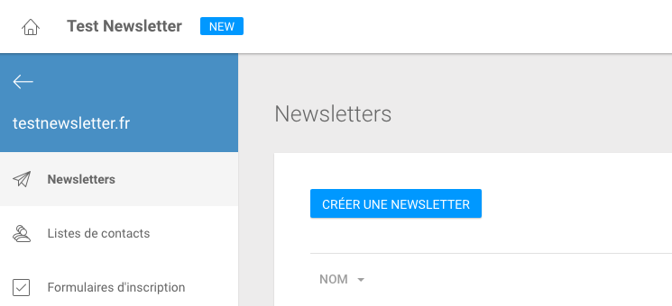 infomaniak concole newsletter