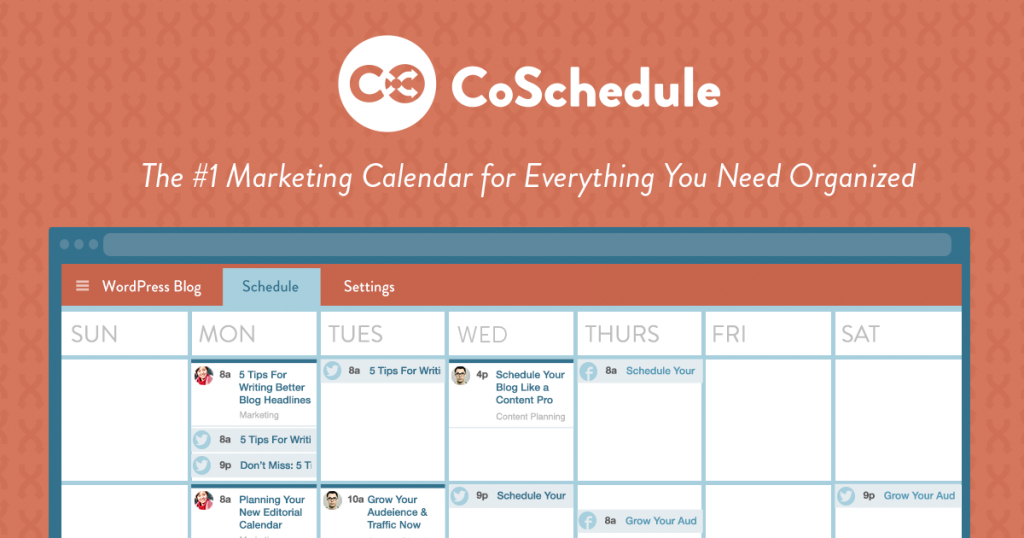 CoSchedule Calendrier éditorial