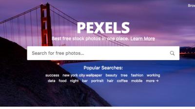 Un moteur de recherche parmi 30'000 images gratuites : Pexels