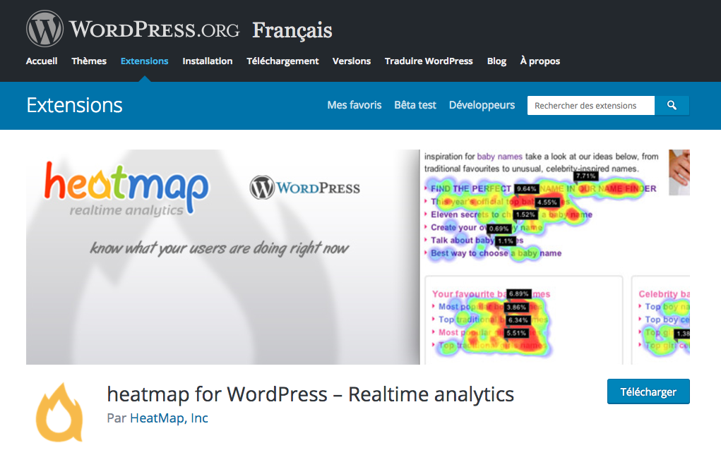 Heatmap for WordPress
