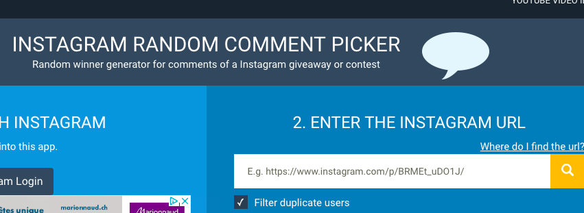 Instagram Random Comment Picker