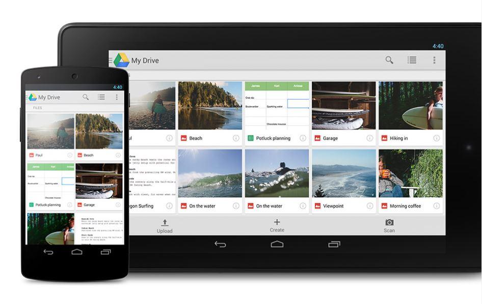 Google Drive Fichier