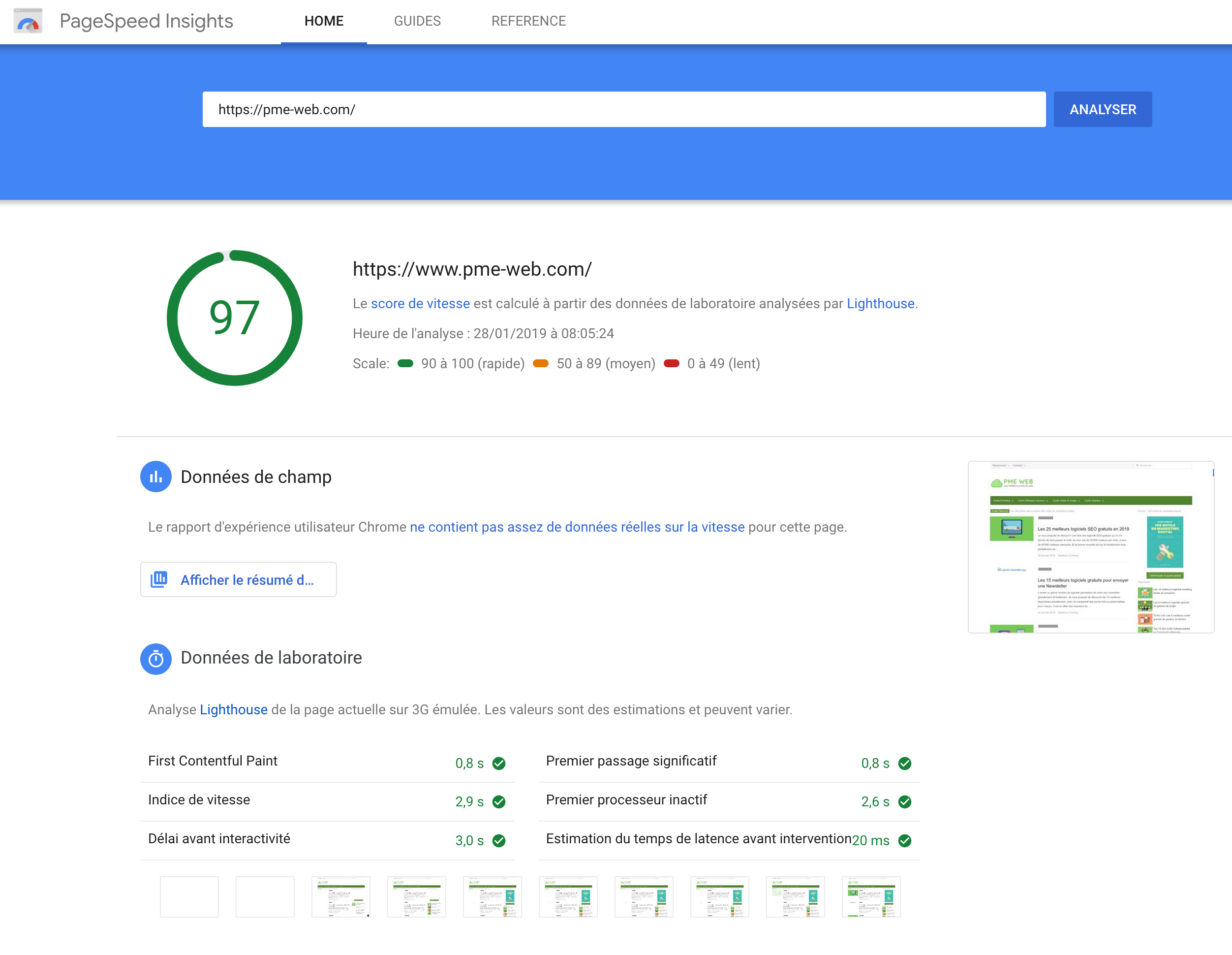 PageSpeed Insights Google
