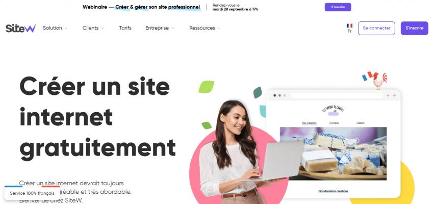 logiciel de Creation de site web