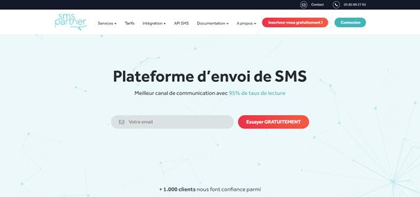 SMSPartner plateforme d'envoi de SMS