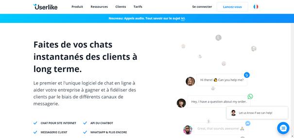 UserLike solution de chat en direct