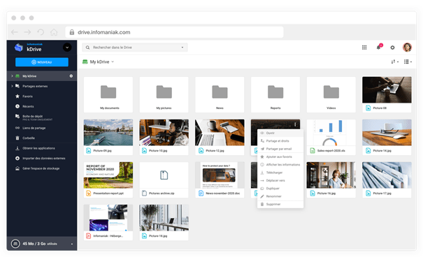 Alternative à google drive et dropbox